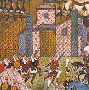 OttomanJanissariesAndDefendingKnightsOfStJohnSiegeOfRhodes1522