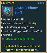 Bastet's Ebony Staff