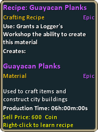 Recipe guayacan planks
