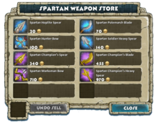 Stores spartan weapon store