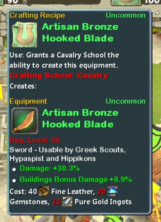 CR Cav 36 Artisan Bronze Hooked Blade