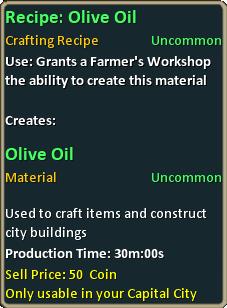 Recipe olive oil