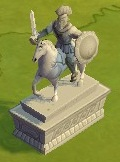 Mounted Warrior Statue