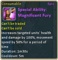 Special Ability Magnificent Fury