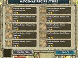 Mycenae Recipe Store