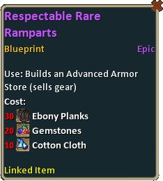 Blueprint Respectable Rare Ramparts