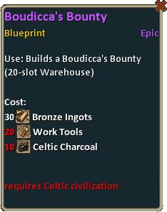 Blueprint boudiccas bounty