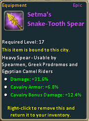 Setma's Snake-Tooth Spear