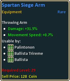 Spartan siege arm