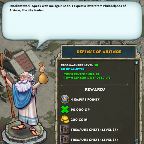 The greek quest complete (with rewards) at level 30