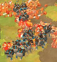 War Elephant Destroying Siege