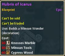 Hubris of Icarus