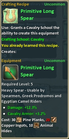 Craft primitive long spear