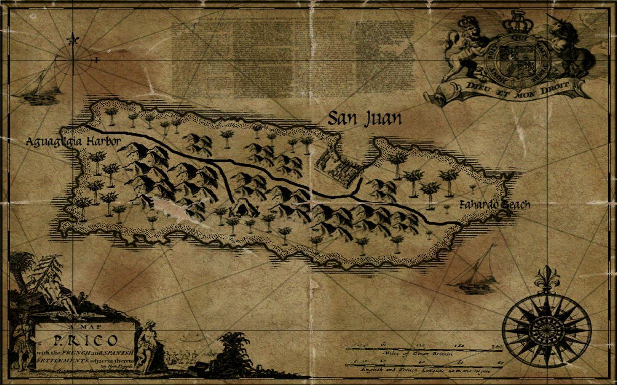 Puerto Rico Maps Age of Pirates