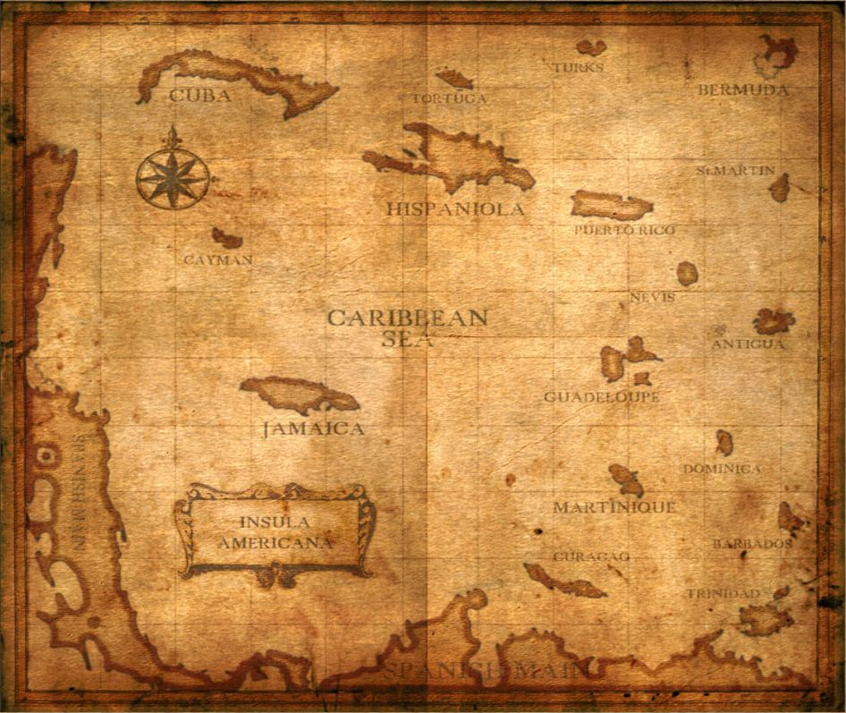 Old Map Maps Age of Pirates