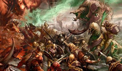 Guerra Ochopartes Ossiarch Caos