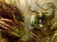 Señor de los Árboles Sylvaneth vs Gran Inmundicia Nurgle Sigmaroteca