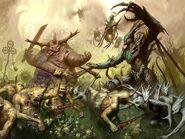 Demonios de Nurgle vs Sylvaneth Ghyran Sigmaroteca