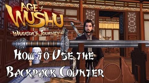 Age of Wushu- How to Use the Backpack Counter