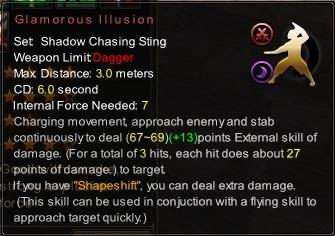 (Shadow Chasing Sting) Glamorous Illusion (Description)
