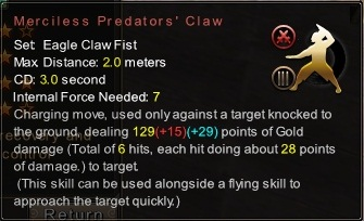 (Eagle Claw Fist) Merciless Predators' Claw (Description)
