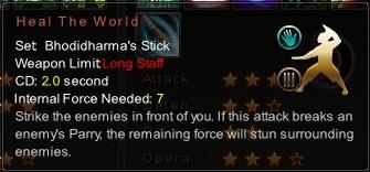 (Bhodidharma's Stick) Heal The World (Description)