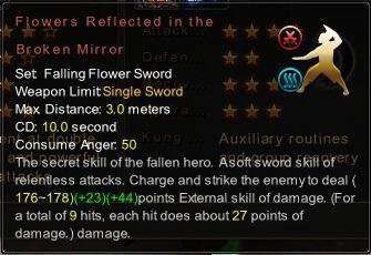 (Falling Flower Sword) Flowers Reflected in the Broken Mirror (Description)