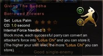 (Lotus Palm) Giving The Buddha Borrowed Flowers (Description)