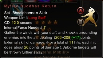 (Bhodidharma's Stick) Myriad Buddhas Return (Description)