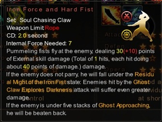 (Soul Chasing Claw) Iron Force and Hard Fist (Description)