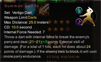 (Vertigo Dart) Summon Spirits (Description)