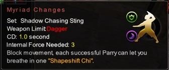 (Shadow Chasing Sting) Myriad Changes (Description)