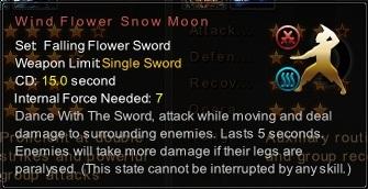 (Falling Flower Sword) Wind Flower Snow Moon (Description)
