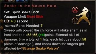 (Spirit Snake Stick) Snake in the Mouse Hole (Description)