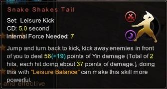 (Leisure Kick) Snake Shakes Tail (Description)