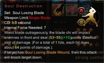(Soul Losing Blade) Soul Destruction (Description)