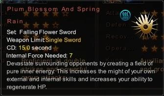 (Falling Flower Sword) Plum Blossom And Spring Rain (Description)