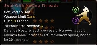(Vertigo Dart) Soul With Moving Threads (Description)