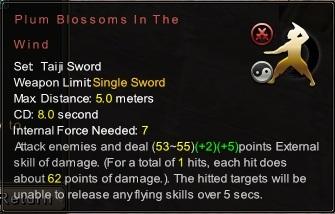 (Taiji Sword) Plum Blossoms In The Wind (Description)