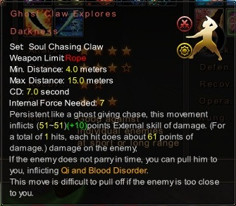 (Soul Chasing Claw) Ghost Claw Explores Darkness (Description)