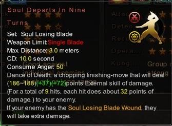 (Soul Losing Blade) Soul Departs In Nine Turns (Description)