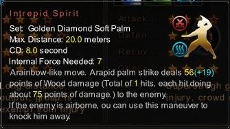 (Golden Diamond Soft Palm) Intrepid Spirit (Description)