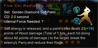 (Golden Diamond Soft Palm) Five Chi Radiating Joy (Description)