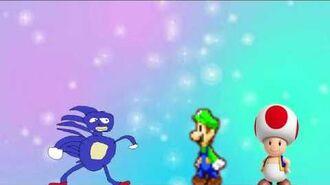 Toad Bullies Luigi & Sanic
