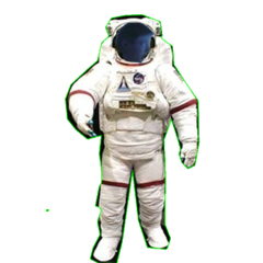 Unused Leopold with a spacesuit sprite
