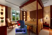 Blue Orb Leopold in the Adlon Hotel