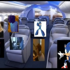 Leopold's family, Mega Man, Sonic, and Mario on the plane in Videoman1443's AGK Series