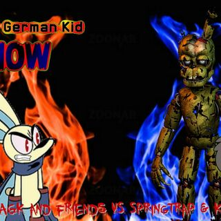 The thumbnail of the part 1 of AGK and friends vs. Springtrap & Kyle