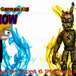 The thumbnail of the part 2 of AGK and friends vs. Springtrap & Kyle