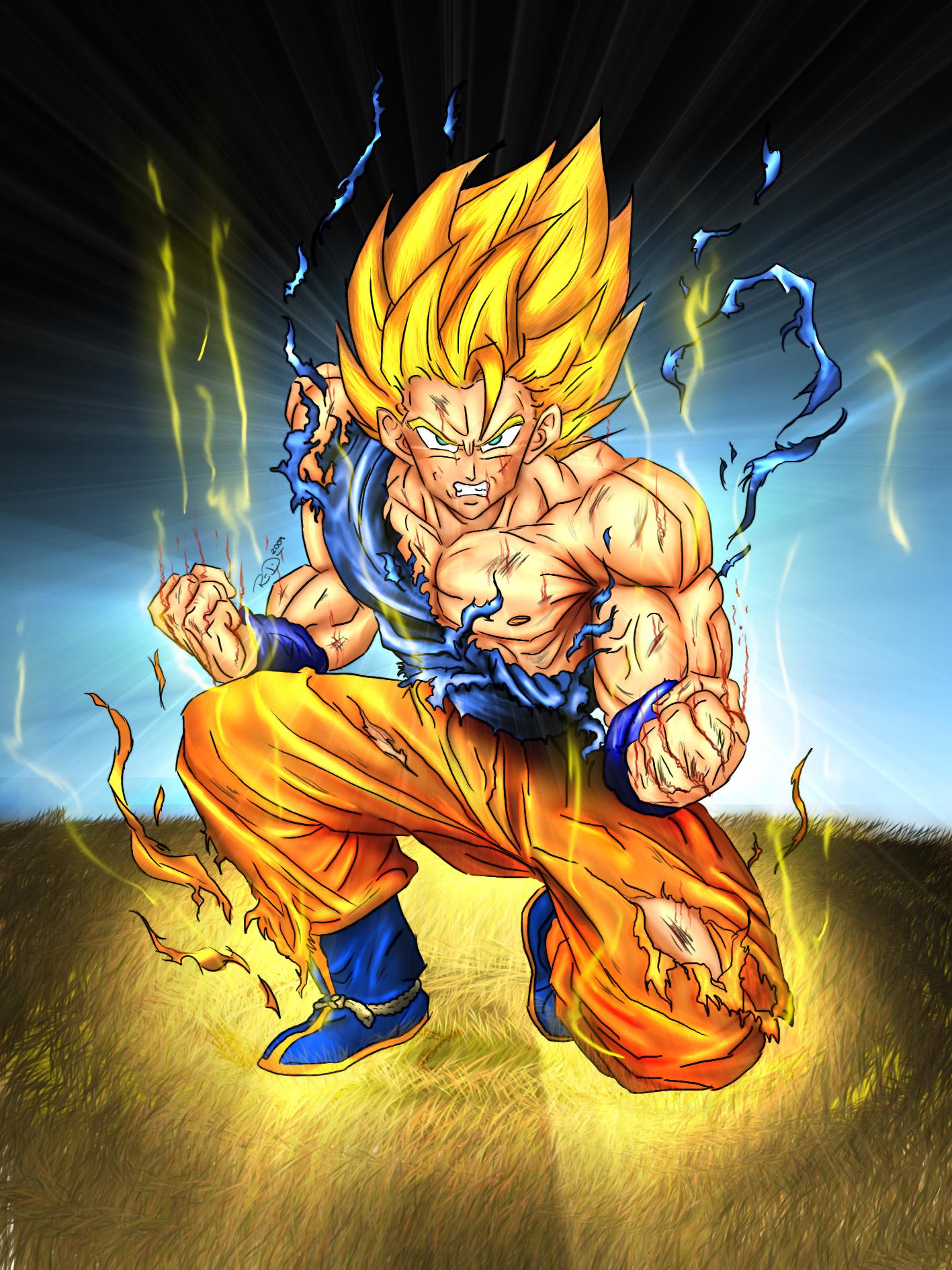 Image  Goku SSJ by Dpredfirejpg  Angry German Kid Wiki  FANDOM